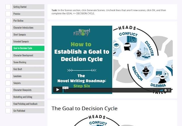 how to write a novel course screen