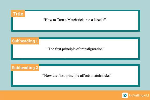 one level section title examples