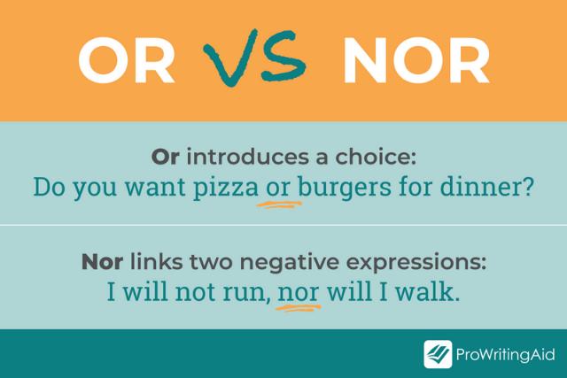 nor vs or graphic