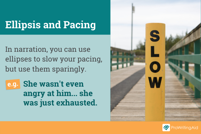 slowing down pacing in narration