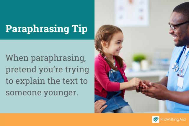 A tip for paraphrasing