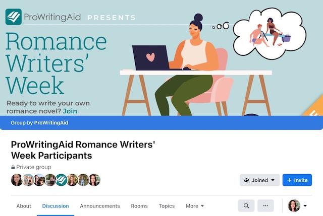 romance writers' week facebook community