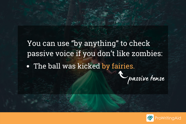 Image showing a passive voice check test