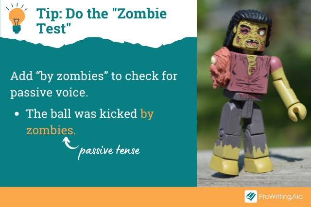 Image showing zombie test for passive voice