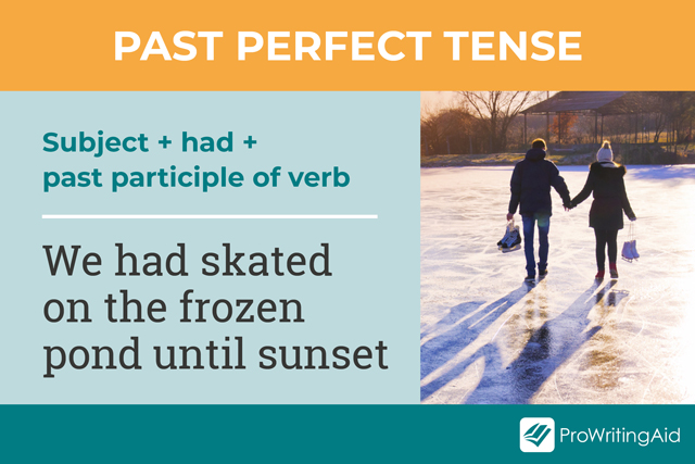 how to use past perfect tense verbs