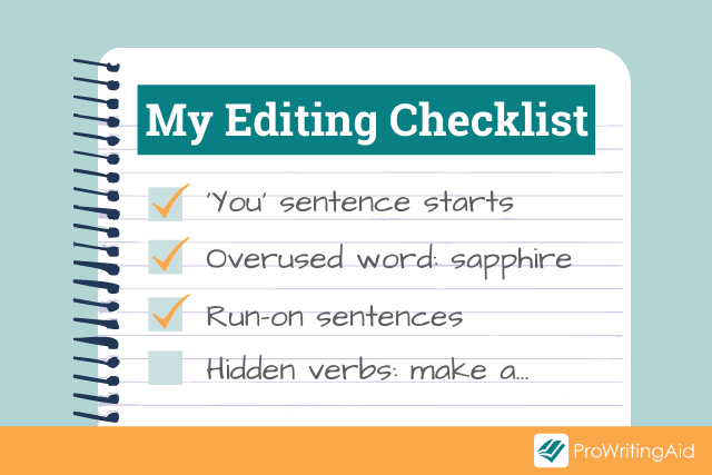 creating a personalized editing checklist