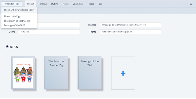 plan multiple books in one place