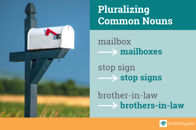 examples of pluralized common nouns