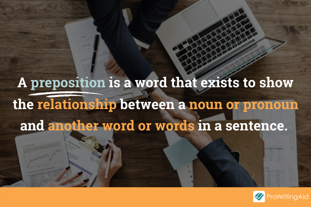 definition of a preposition