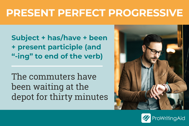 how to use Present Perfect Progressive verbs