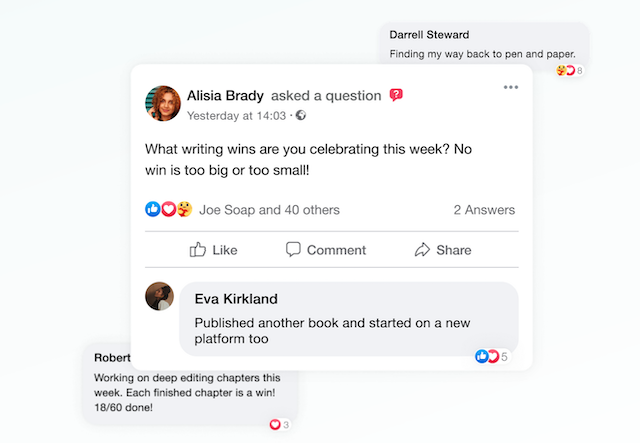 examples of posts in the prowritingaid writer's community