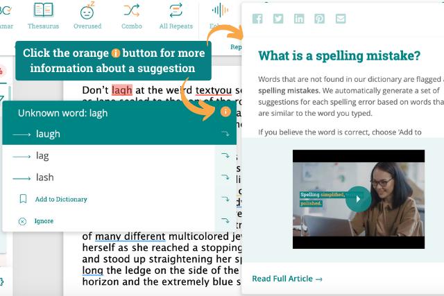 Screenshot of ProWritingAid app