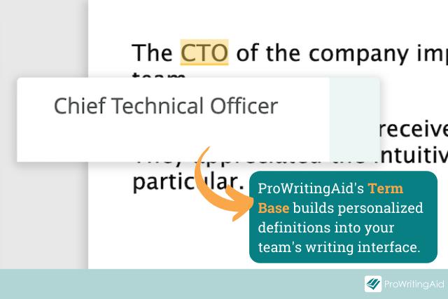 prowritingaid's term bases