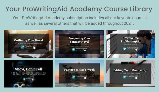 prowritingaid academy course library