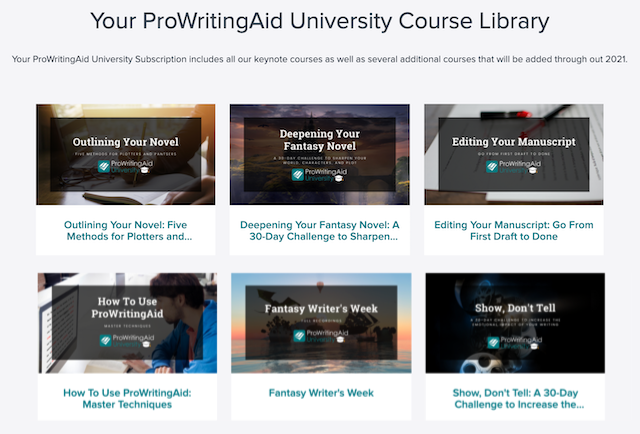prowritingaid university course library