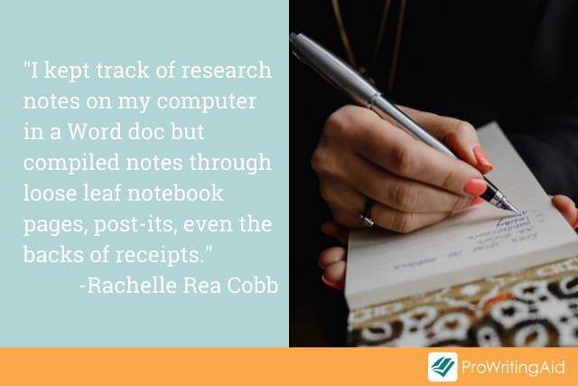 Imaging show direct quote from Rachelle Rea Cobb