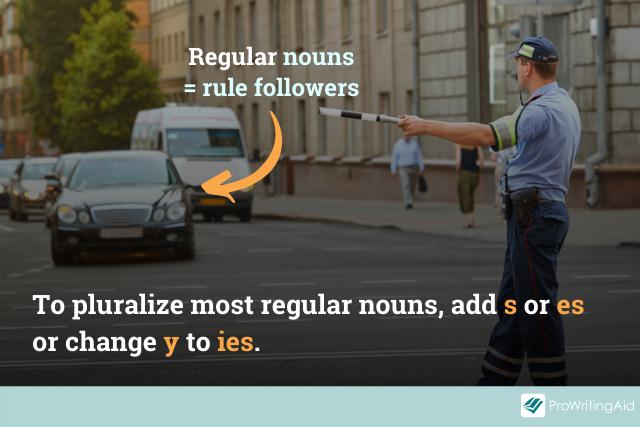 regular noun pluralization rules