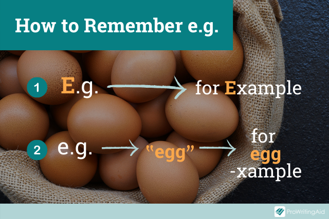 graphic with mnemonics to remember e.g.