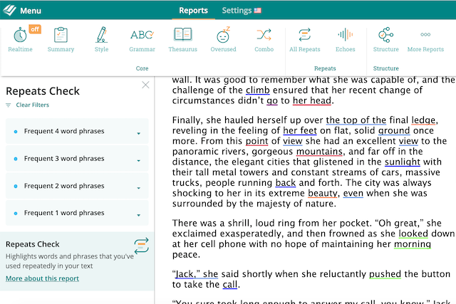 find repeated words quickly