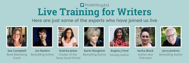 headshots of experts who have joined ProWritingAid for live events