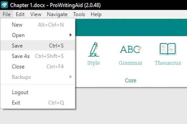 Save ProWritingAid edits to Word