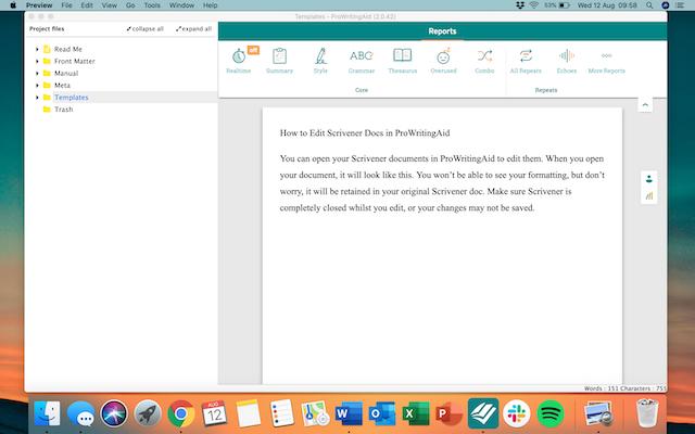 ProWritingAid for Scrivener