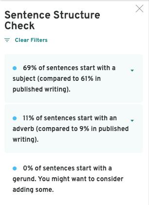 Sentence Structure Sidebar