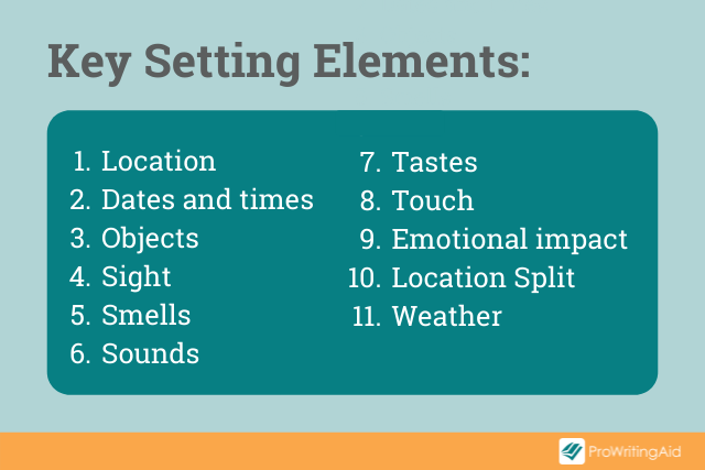 setting story elements list