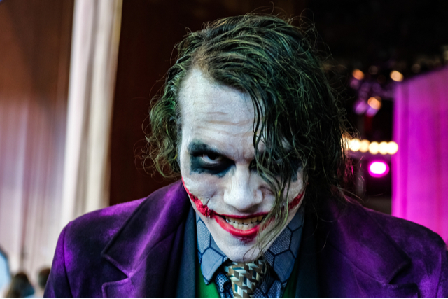 cosplayer dressed as the joker
