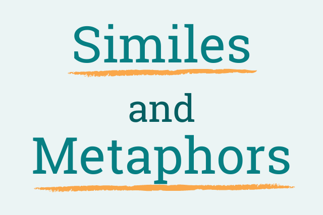 similes and metaphors graphic
