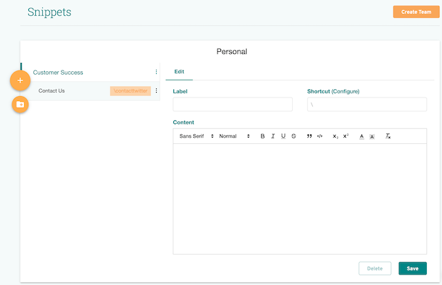 screenshot of prowritingaid's snippets entry form