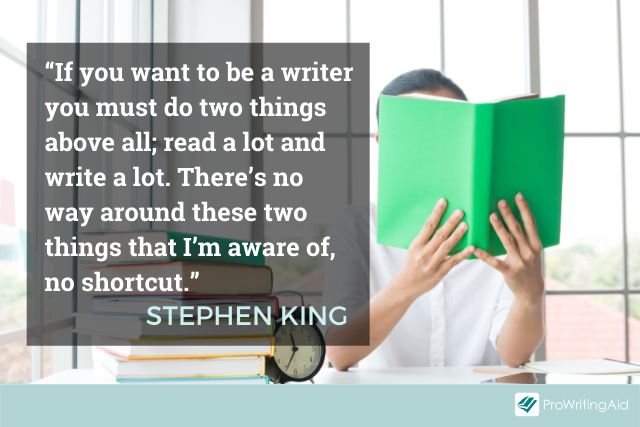 Stephen King discussing writing