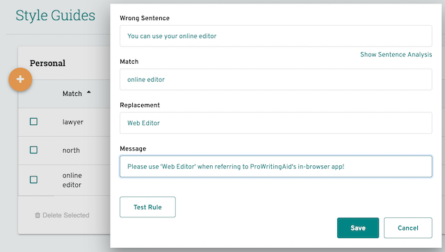 rule to use web editor in style guide