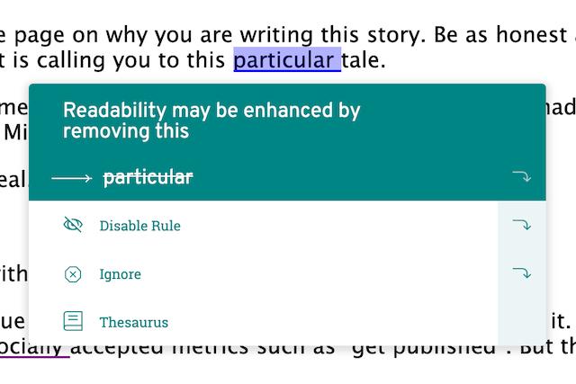 screenshot of suggestion box