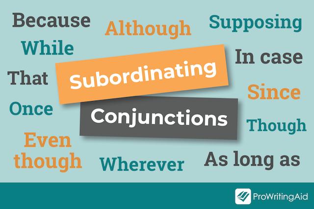 word-cloud, subordinating conjunctions