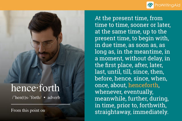 time transitional words examples
