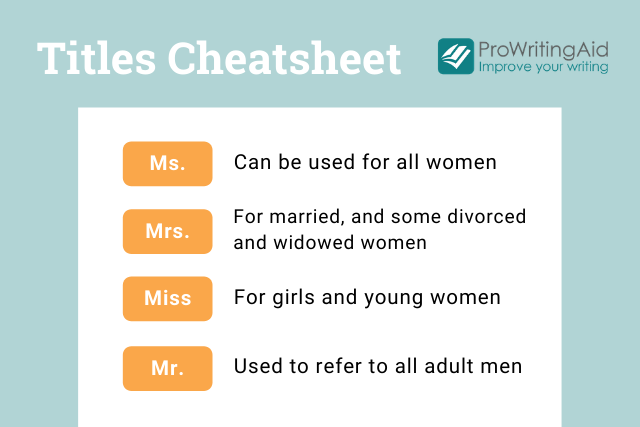 titles cheatsheet