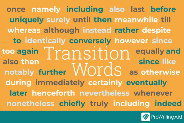 transitional words examples