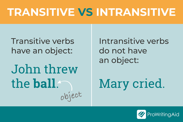 transitive vs intransitive verbs examples