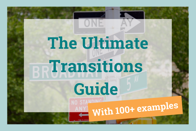 the ultimate transitions guide