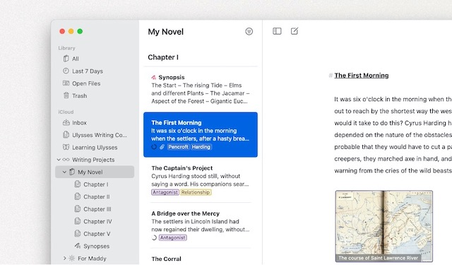 document open in ulysses