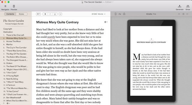 preview mode in vellum