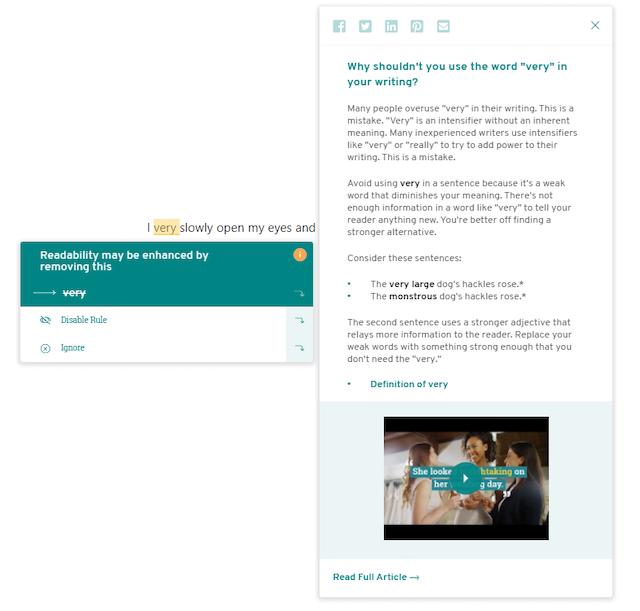 ProWritingAid's Overused Words Report