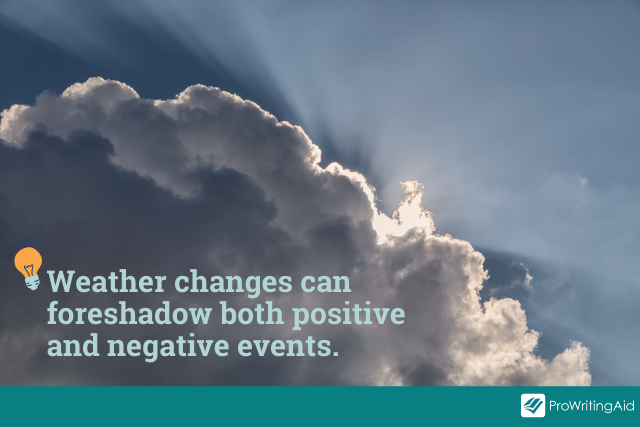 Tip: weather can hint at both positive and negative events