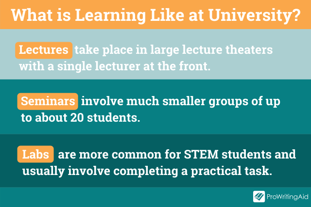 Image showing how students learn at university
