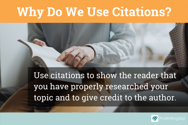 The importance of citing sources