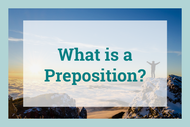 what is a preposition? cover
