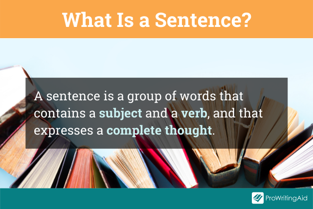 The definition of a sentence