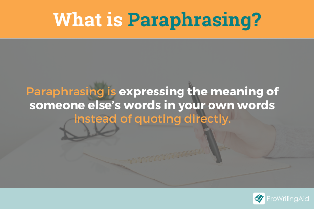The two definitions of paraphrasing