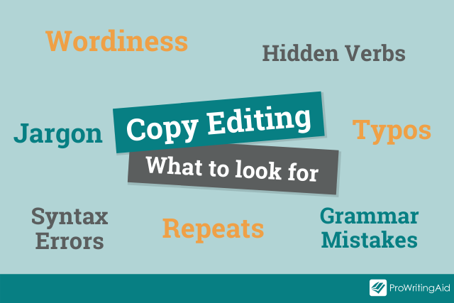 copy editing: what to look for mind map